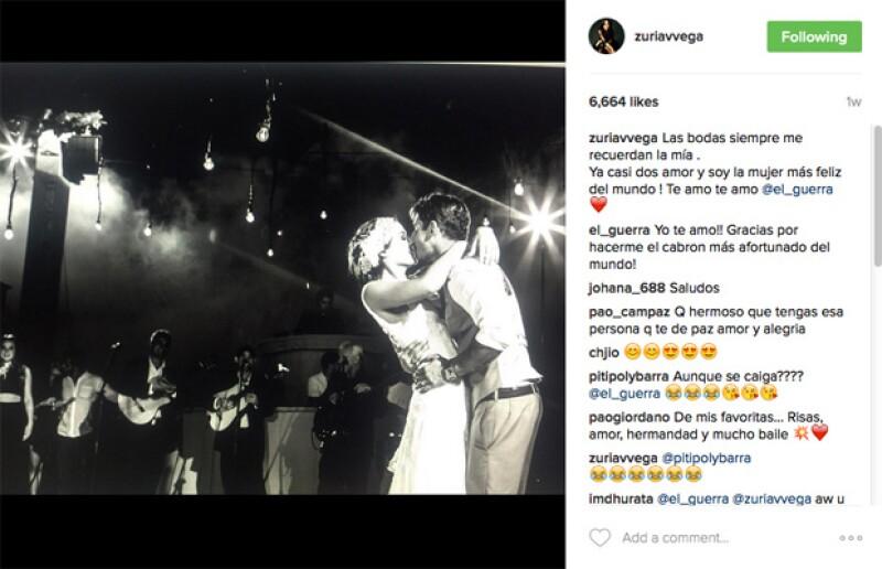 Zuria Vega recuerda con mucho amor su boda con Alberto Guerra.