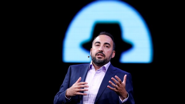 FILE PHOTO: Facebook CSO Alex Stamos gives a keynote address during the Black Hat information security conference in Las Vegas