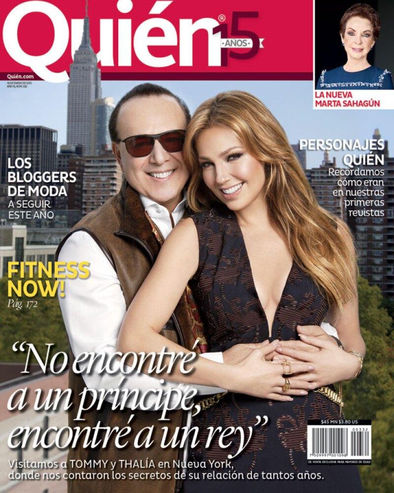 En entrevista exclusiva la cantante mexicana reveló a Quién cómo ha sido su vida después de 15 años de casada y además, posó con su esposo Tommy Mottola.
