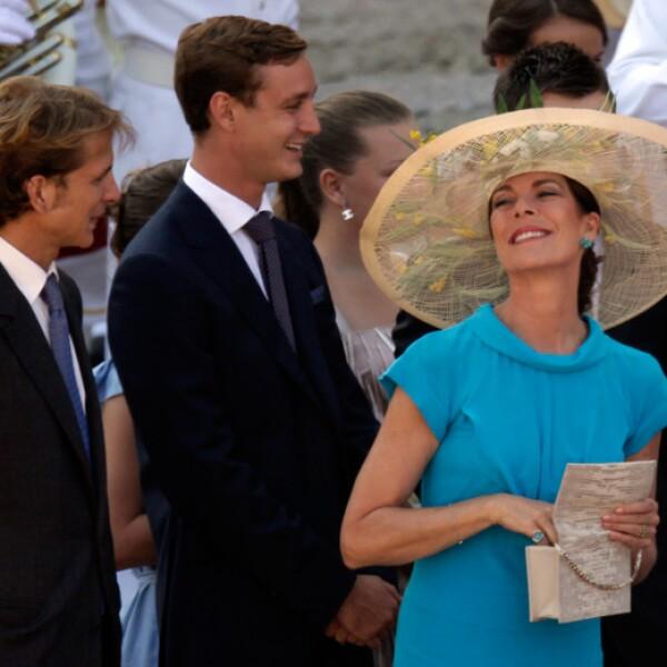 Carolina y sus hijos, Andrea y Pierre.