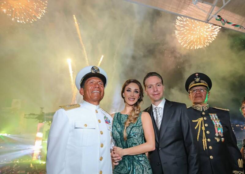La cantante celebró su primer festejo por la independencia mexicana como primera dama de Chiapas al lado de su esposo Manuel Velasco.