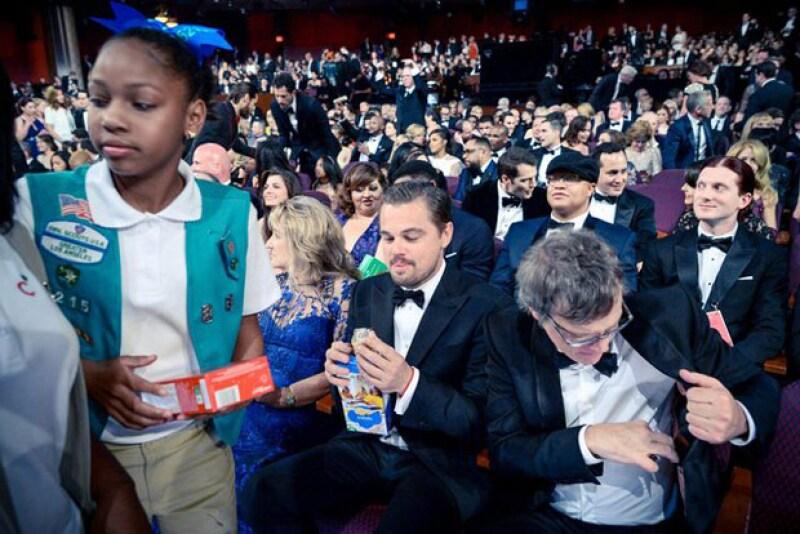 Hasta Leonardo DiCaprio compró galletas.