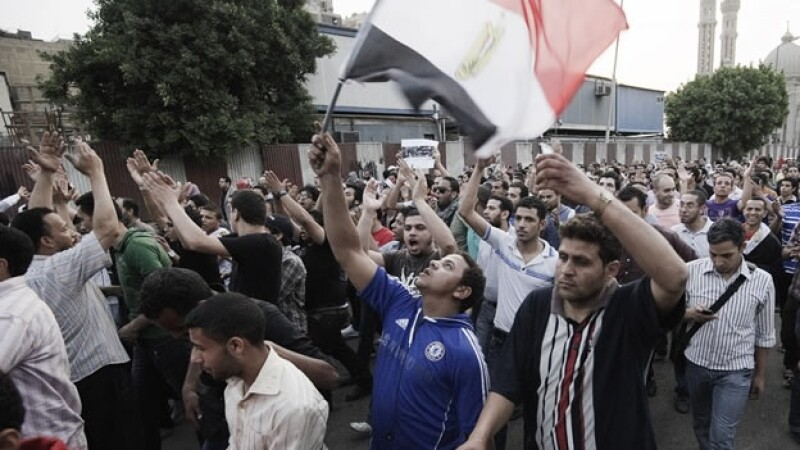 Manifestantes protestan en El Cairo