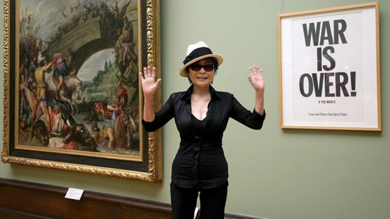 Yoko Ono exhibe su obra