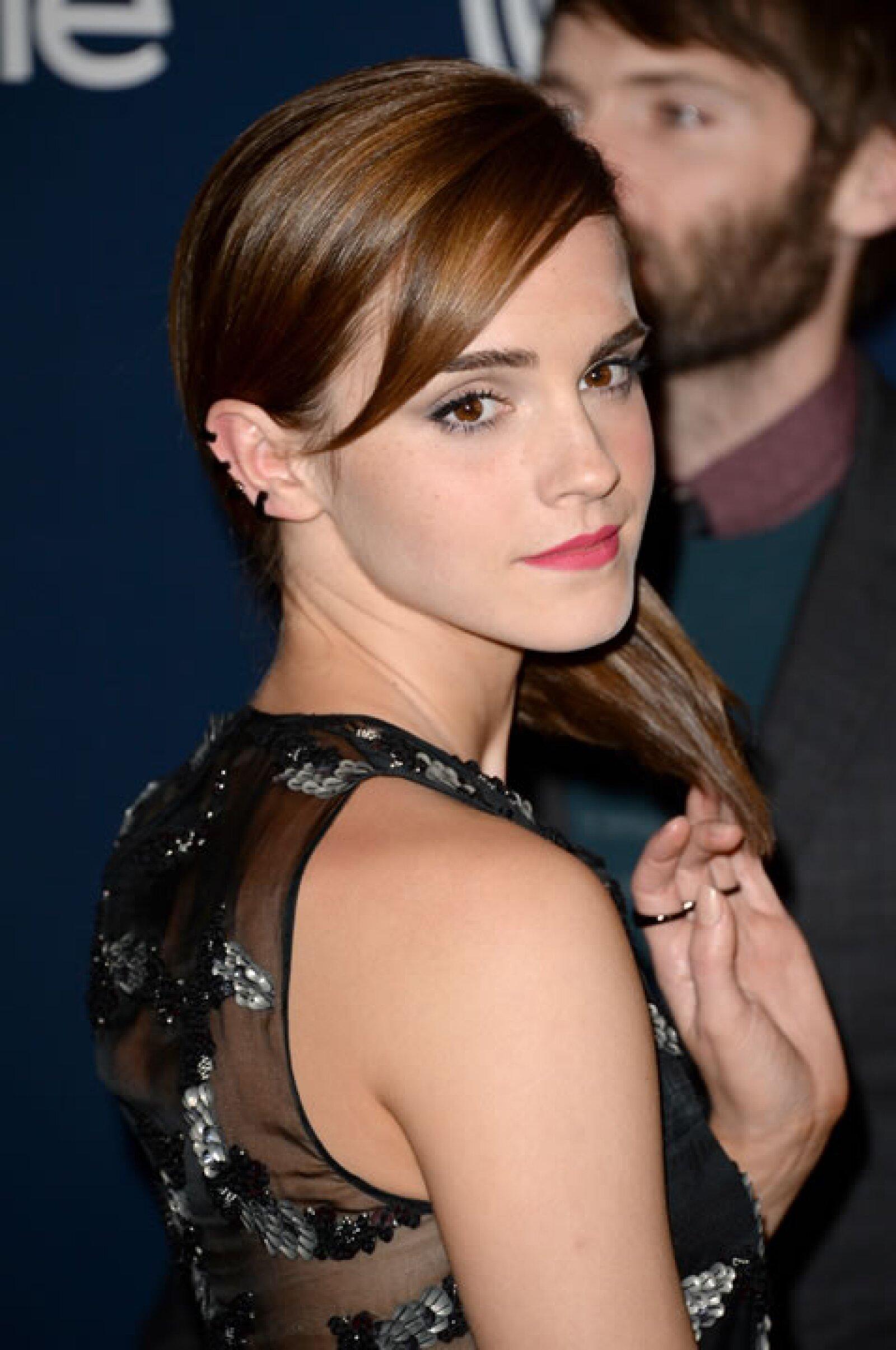 Emma en la fiesta de InStyle y Warner Bros. luego de los Golden del 2014.