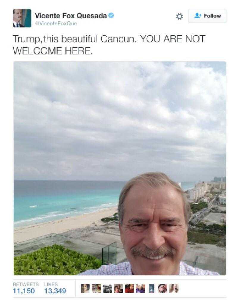 El ex presidente mandó varios mensajes a Donald Trump, en los que le dijo que no era bienvenido.