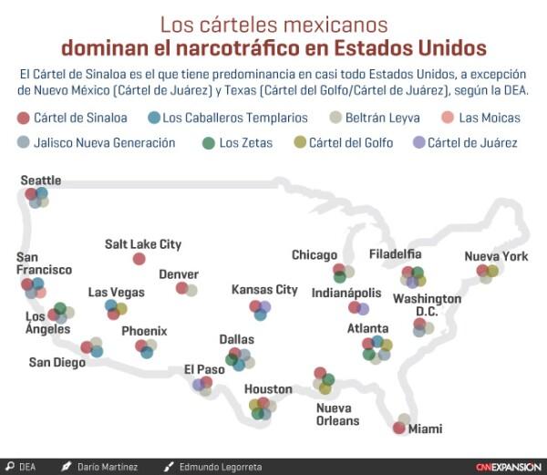 Los cárteles mexicanos en EU