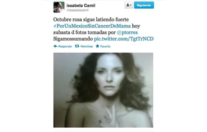 Así tuiteó Issabela Camil.