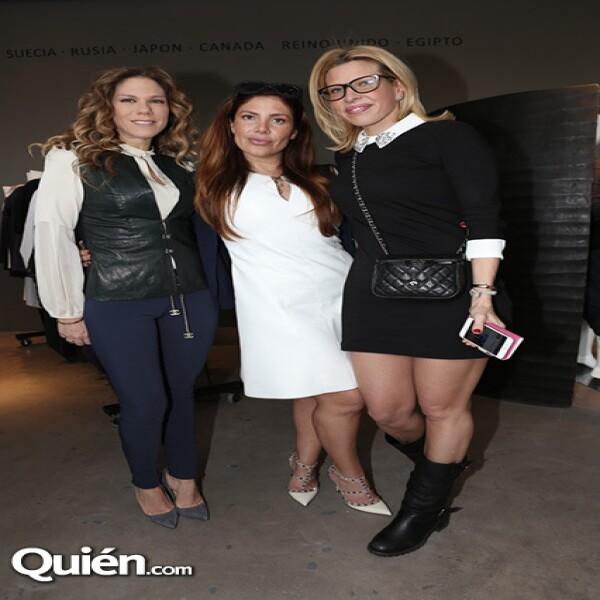 Ana Álvarez, Ximena Moctezuma y Beatriz Pasquel