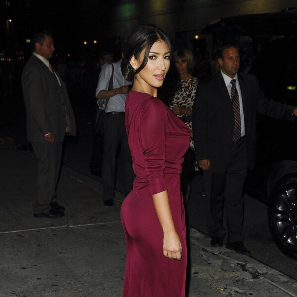 "Kim Kardashian And Solange Visit ""Late Show With David Letterman"""