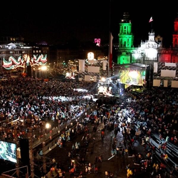 zocalo ciudad de mexico 15 de septiembre de 2012