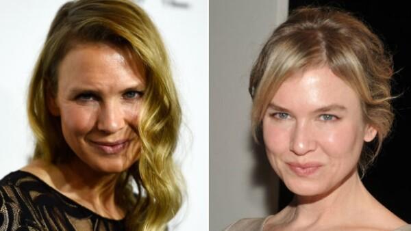 A la derecha, Renée Zellweger en 2011 y a la izquierda se muestra su imagen actual.