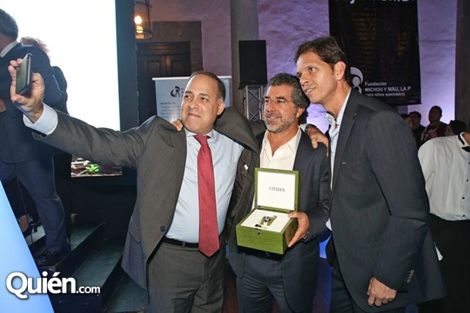 Miguel Angel Webber, José Luis Salamanca y Roberto López