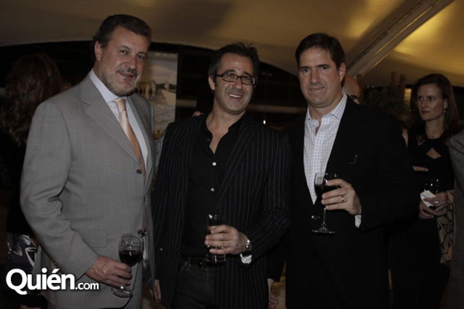 Marcos Martínez, Andy Levine y Alfredo Solloa