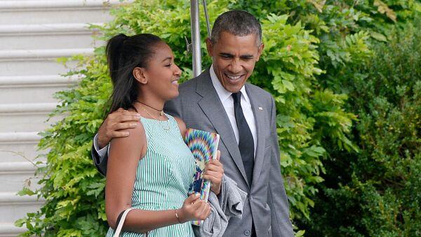 Barack y Sasha Obama