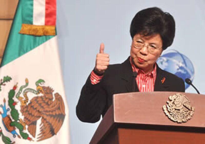 La directora general de la OMS, Margaret Chan, afirmó que existe confianza en que México es un país seguro. (Foto: Notimex)