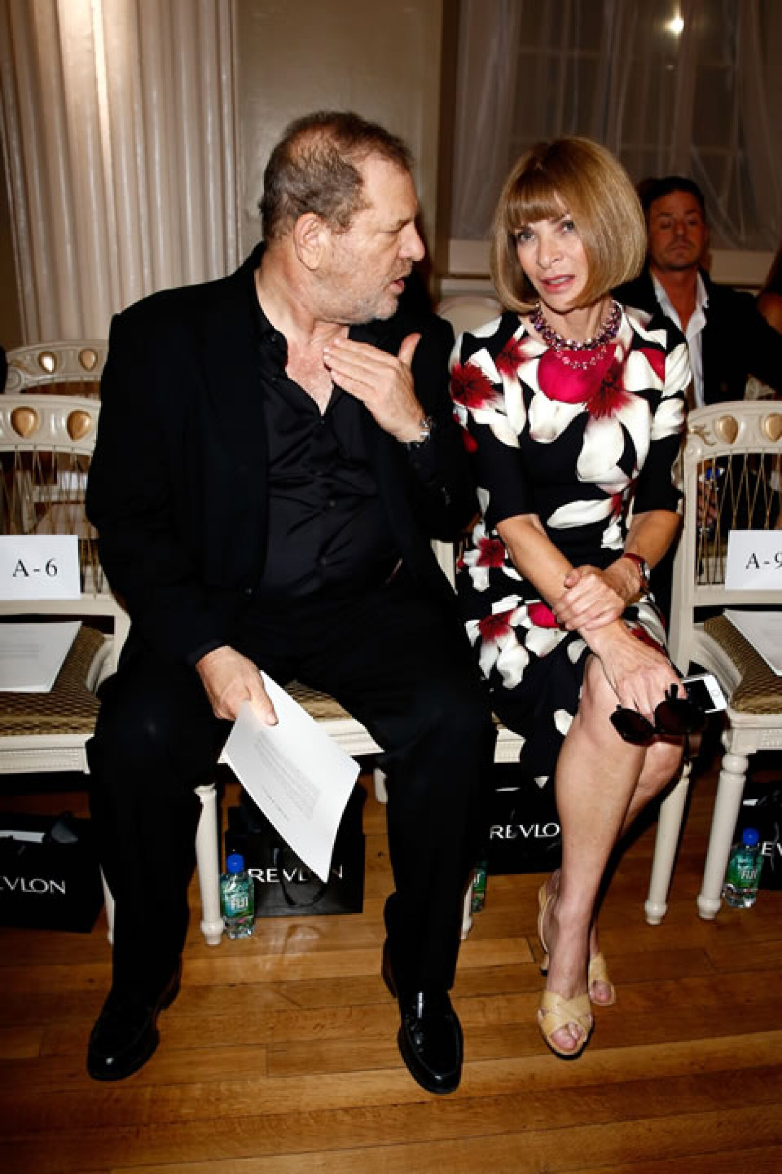 Harvey Weinstein y Anna Wintour