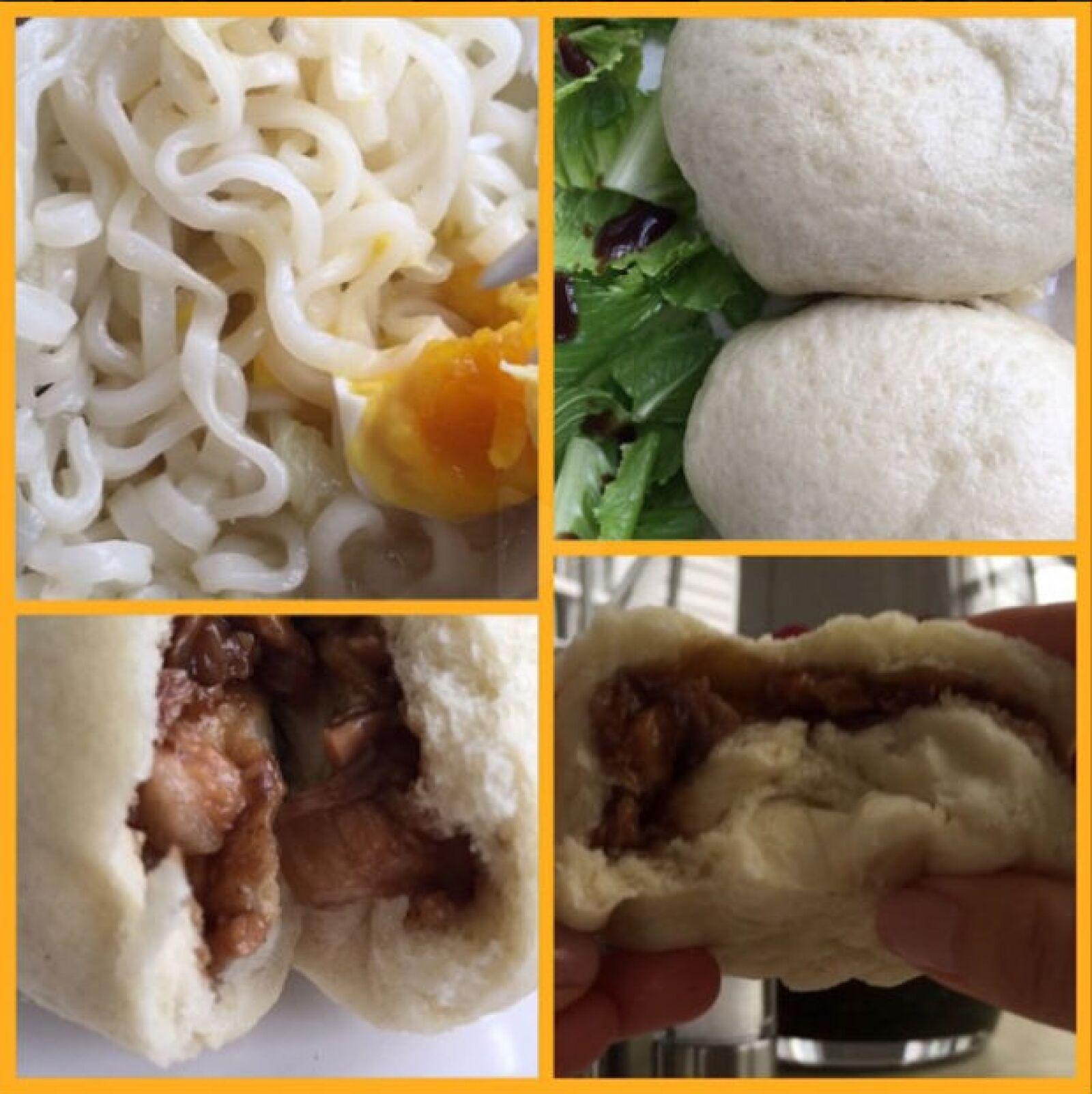 Thalía también compartió su comida con una variedad de platillos chinos.