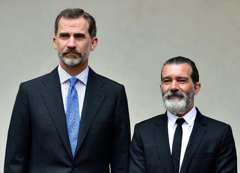 Felipe VI y Antonio Banderas