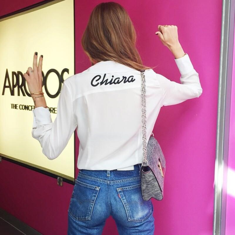 La bloggera Chiara Ferragni no podía faltar en la lista de las famosas que usan la prenda.