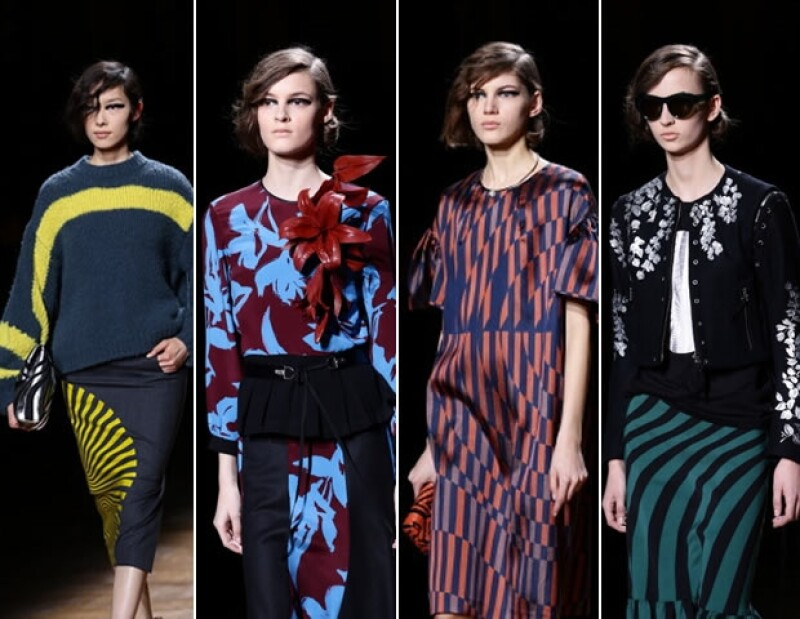 Parte de la colección femenina de Dries Von Noten para New York Fashion Week 2014.