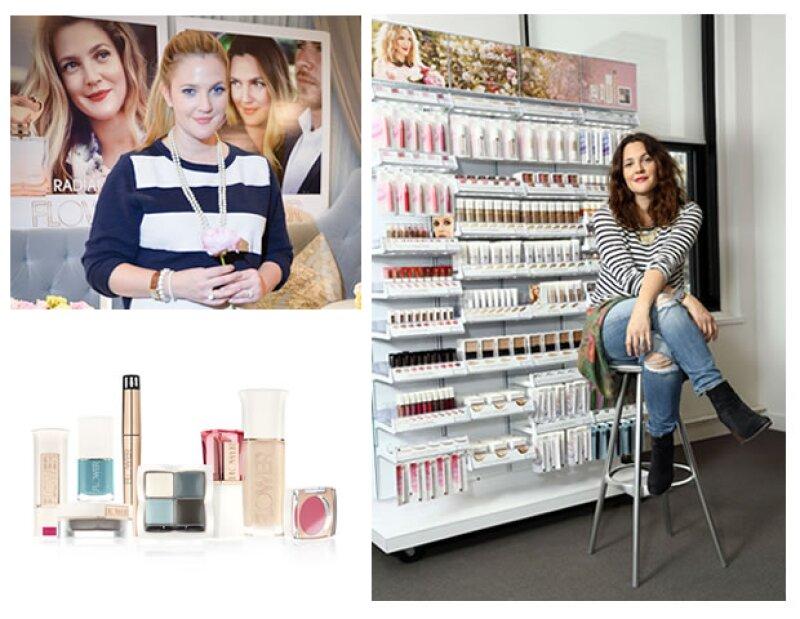 Drew Barrymore es la única imagen y publicidad de Flower Beauty.