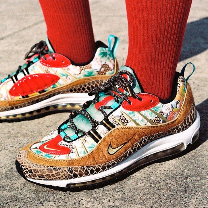 Los Nike Air Max 98 CNY. Cortesía: Nike.com