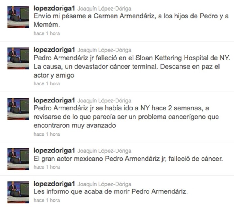Los comentarios de López Dóriga.
