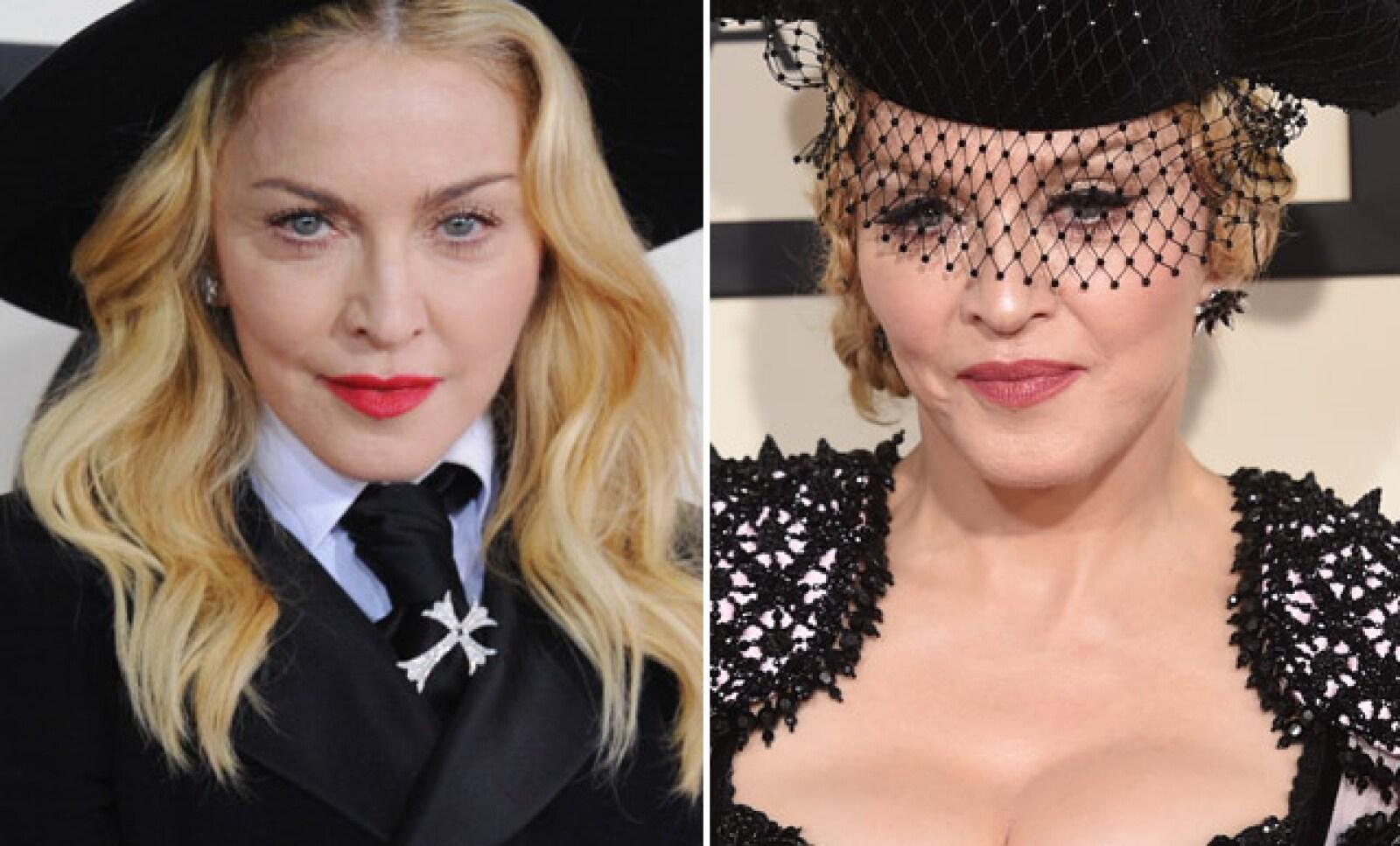 Aunque Madonna ha sido criticada por sus looks incongruentes y exhibicionismo, el maquillaje definitivamente la ha transformado en las red carpets.