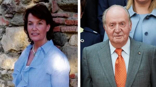 Ingrid Sartiau y Juan Carlos de España