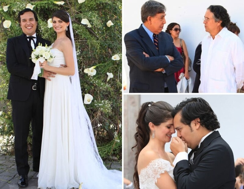 Cuauhtémoc Cárdenas fue uno de los invitados al enlace de Alonso Barrera y María Aura.