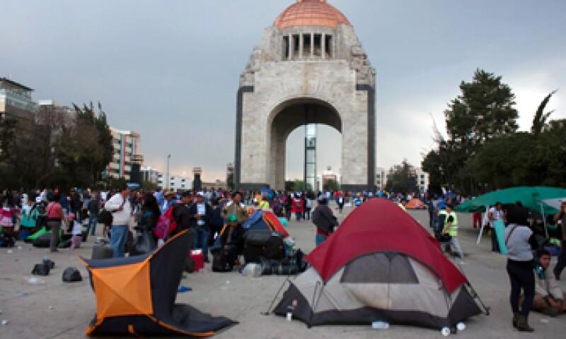 Los consumidores han optado por no visitar algunas zonas del Monumento, señaló la Canacope de la Ciudad de México. (Foto: Notimex )