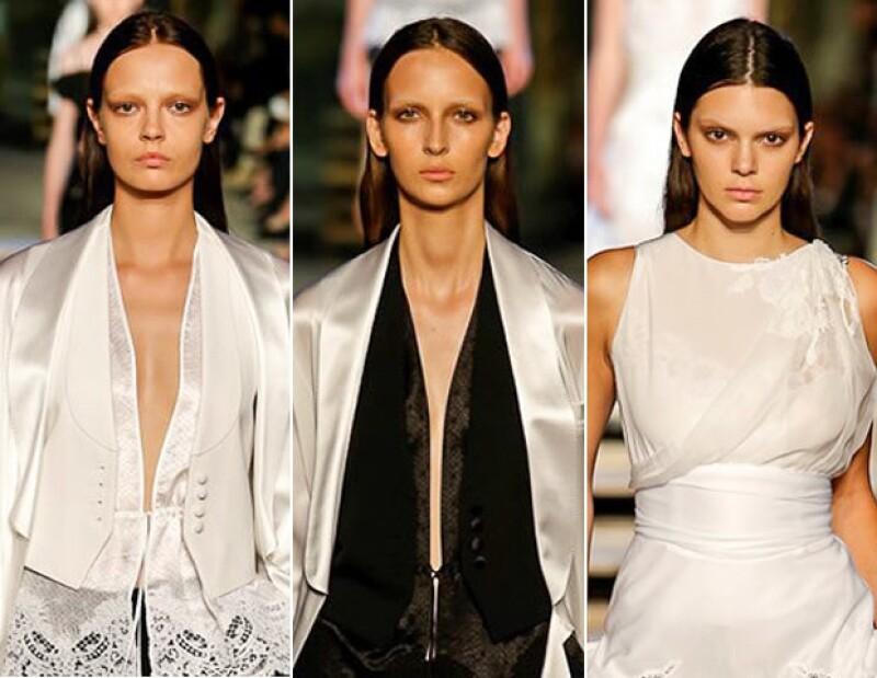 Los ojos fueron los protagonistas en el beauty look de Givenchy