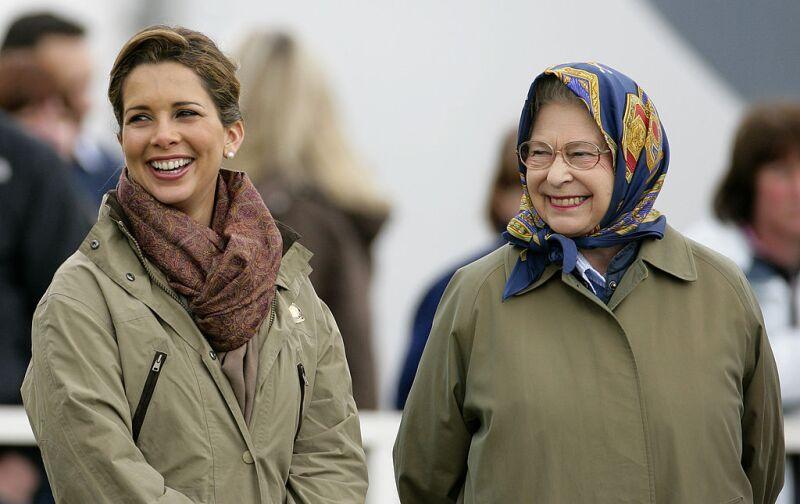 Reina Isabel y la princesa Haya de Jordania