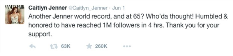 Rompió récord cuando se unió a Twitter.