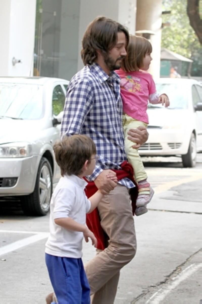 Antes que el trabajo, la prioridad de Diego son sus dos hijos.