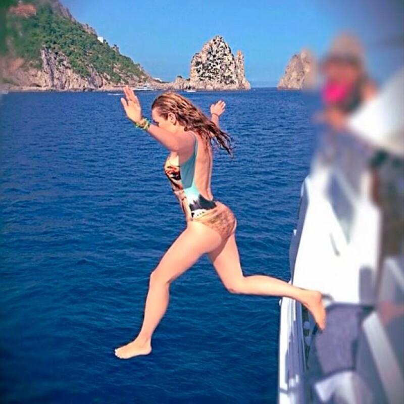La mexicana continúa con sus vacaciones, ahora por Italia, desde donde ha compartido imágenes de sus momentos más divertidos.
