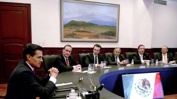 Enrique Peña se reunió con empresarios para conocer su postura sobre las leyes anticorrupcion.