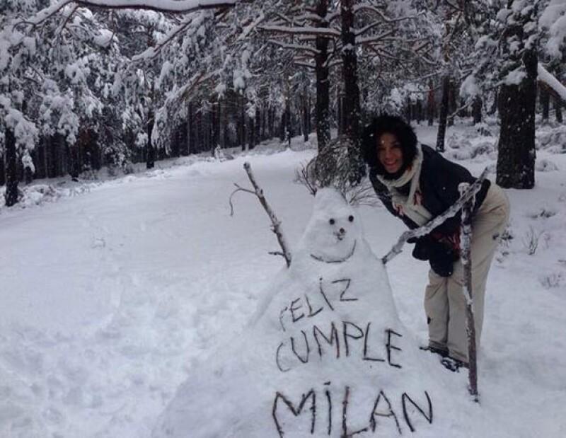 El pequeño Milan nació hace un año en Barcelona.