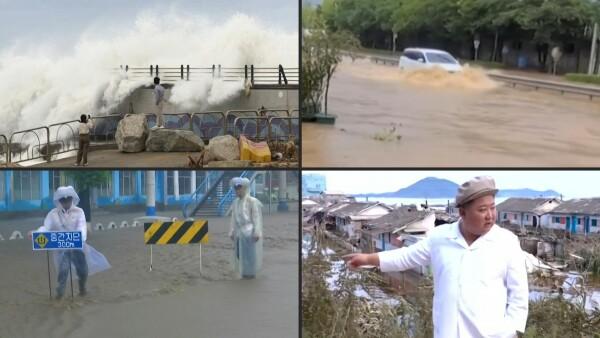 Tras Japón, el violento tifón Haishen se abate sobre la península de Corea