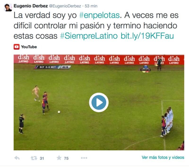 Eugenio Derbez causó sorpresa y luego mucha risa a sus followers con este post de Twitter.