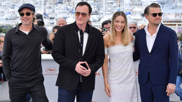 El elenco de Once upon a time in Hollywood en la presentación del filme en el Festival de Cannes.