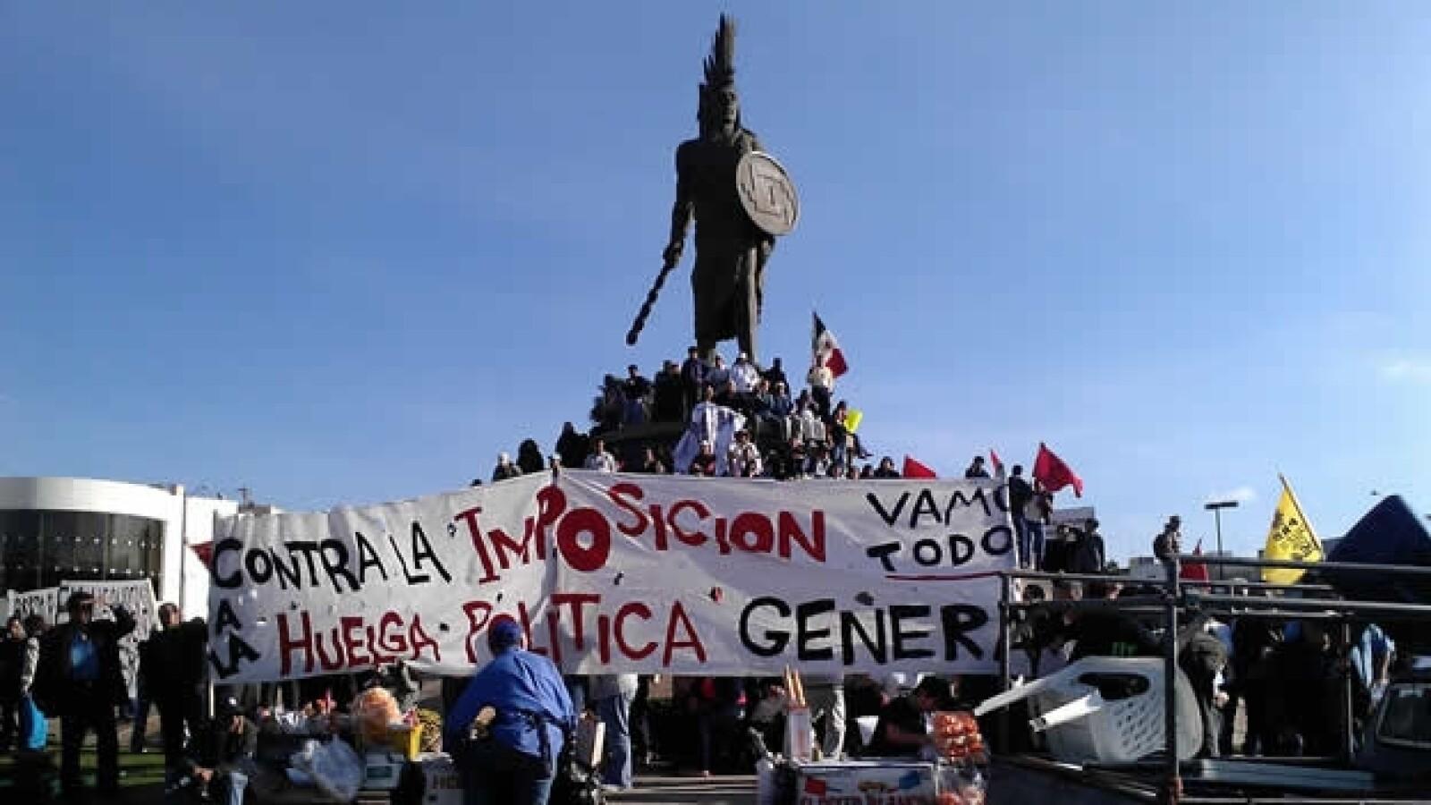 manifestantes en tijuana