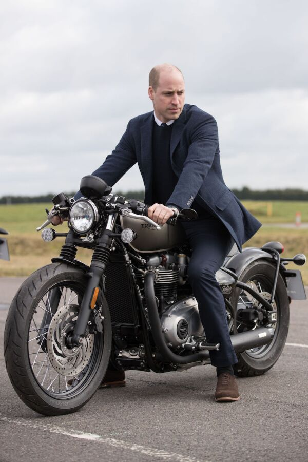 Prince William visits the Triumph Motorcycles and MIRA Technology Park, Hinckley, UK - 20 Feb 2018