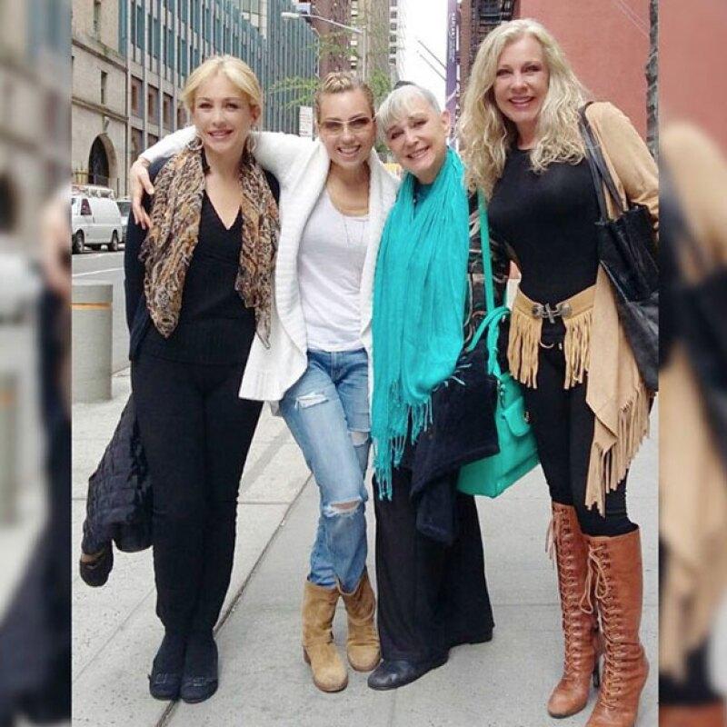 Ernestina, Gabriela y Thalía Sodi celebraron un año más de vida de su hermana Fede, paseando por Nueva York y disfrutando la obra Kinky Boots.