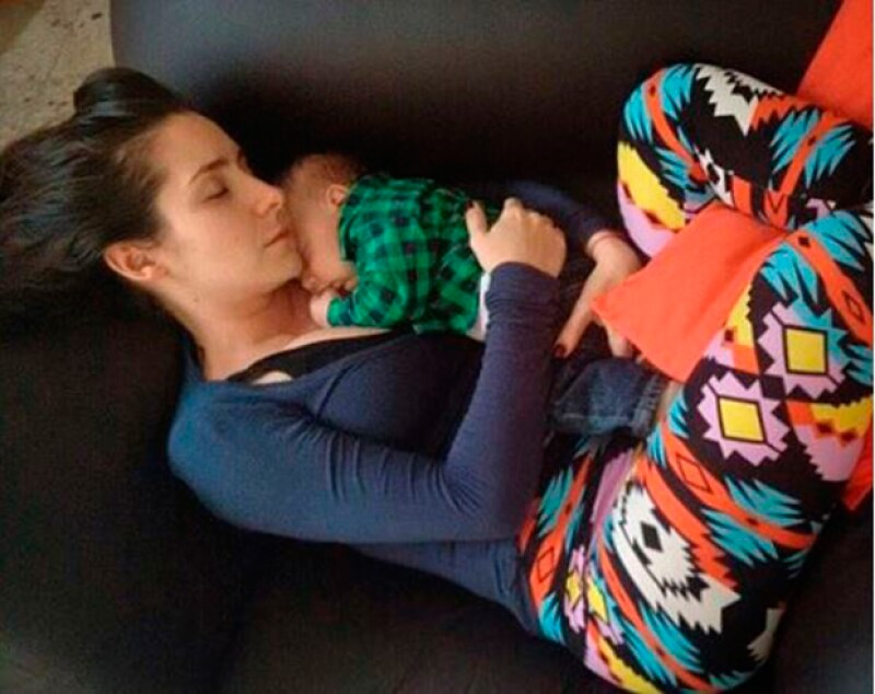 La actriz que espera a su primer hijo al lado de su novio Marcus Ornellas, ya tiene todo el instinto de mamá y así lo muestra en Instagram.