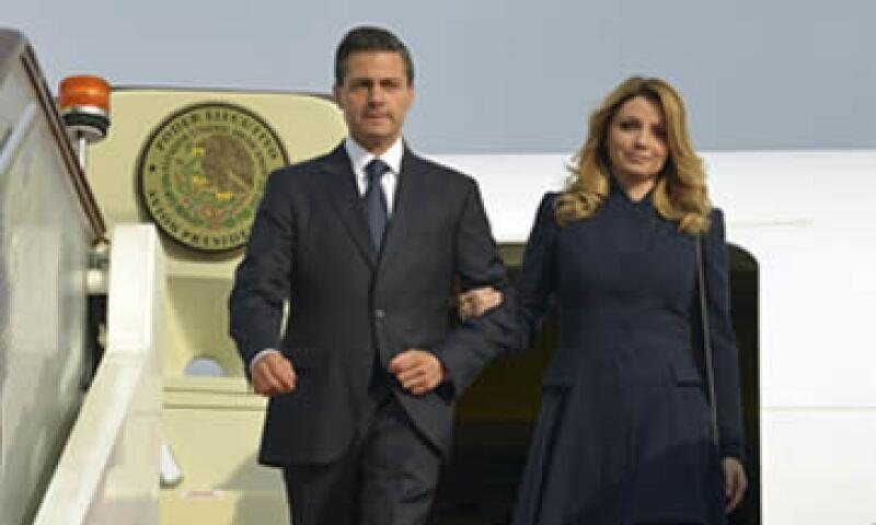 Angélica Rivera acompaña al presidente Enrique Peña en su gira por China. (Foto: Cuartoscuro )