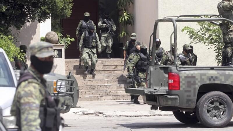 El Ejército mexicano realiza operativo en Guadalajara