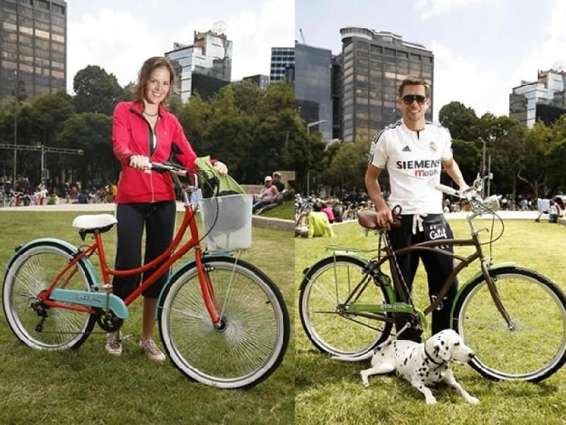 Practicar un deporte y convivir  con los amigos fueron los principales motivos para que Luis Miguel Moreno y Bobby Domínguez, organizaran un día de bicicleta en Paseo de la Reforma.