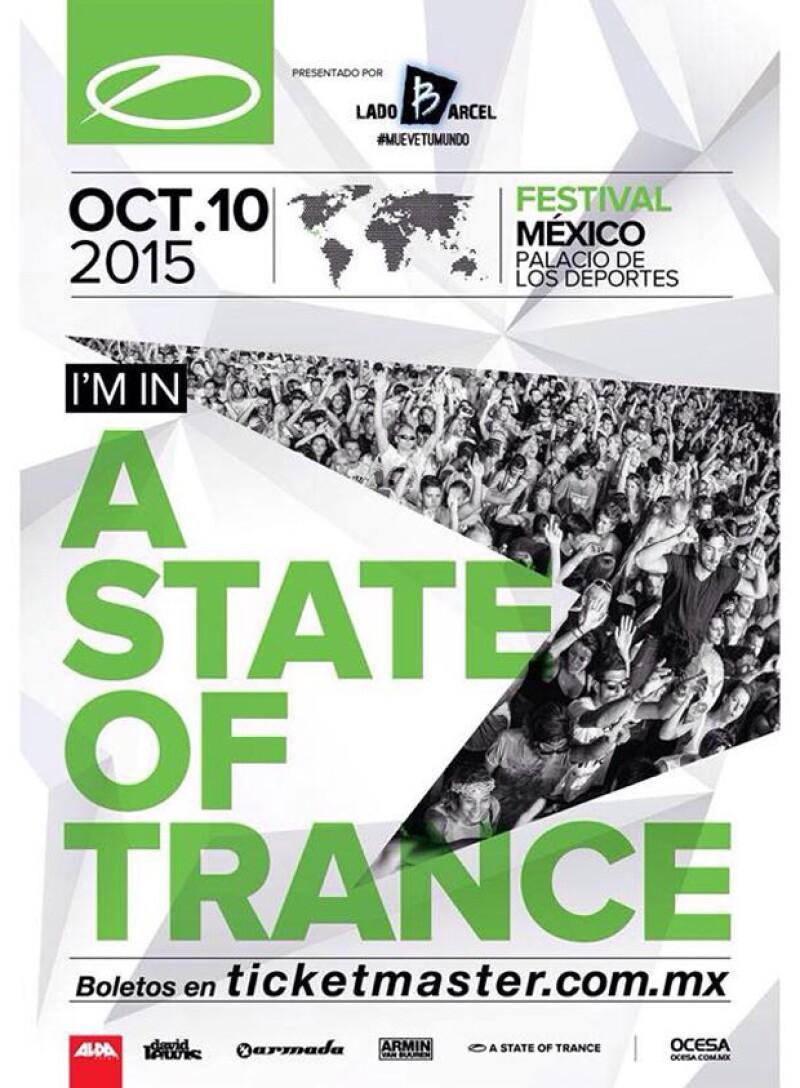 Si eres fan de la música electrónica y más del trance, entonces debes estar en el Palacio de los Deportes este 10 de octubre en el A State of Trance Festival.